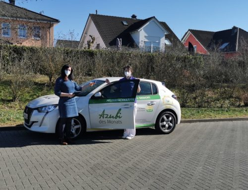 """Unser Engagement für unsere Azubis. Seniorenhaus """"Zur Buche"""" Roscheid """"spendiert"""" Azubi-Auto."""